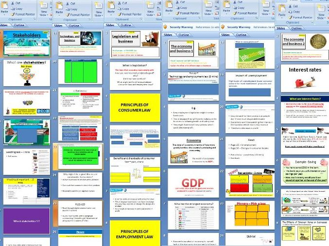 Edexcel GCSE Business (9-1) new spec - Theme 1 - 1.5 Understanding external influences