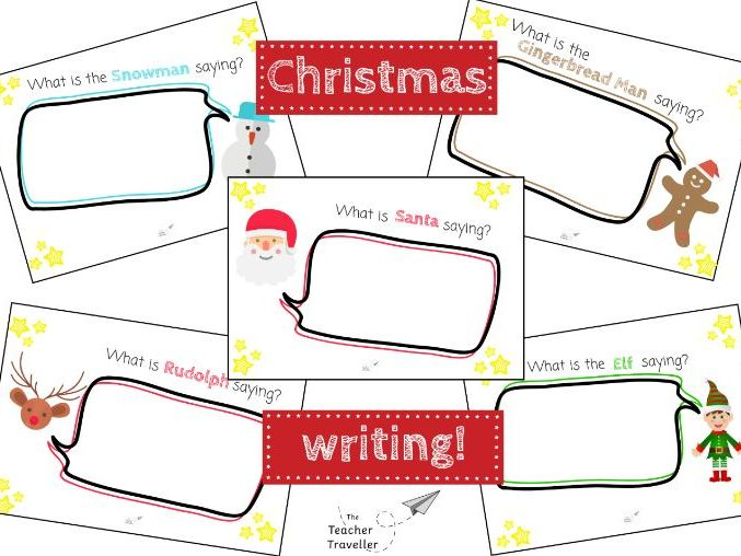 Christmas Speech Bubble Writing Set