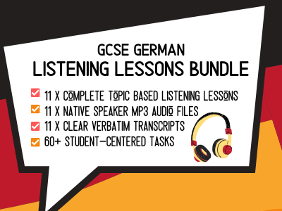 GCSE German LISTENING Practice Bundle