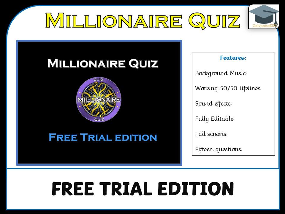 Millionaire Quiz (Free Trial edition)