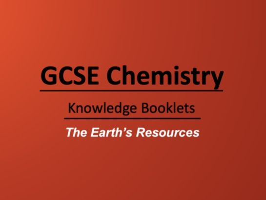 The Earth's Resources Knowledge Booklet