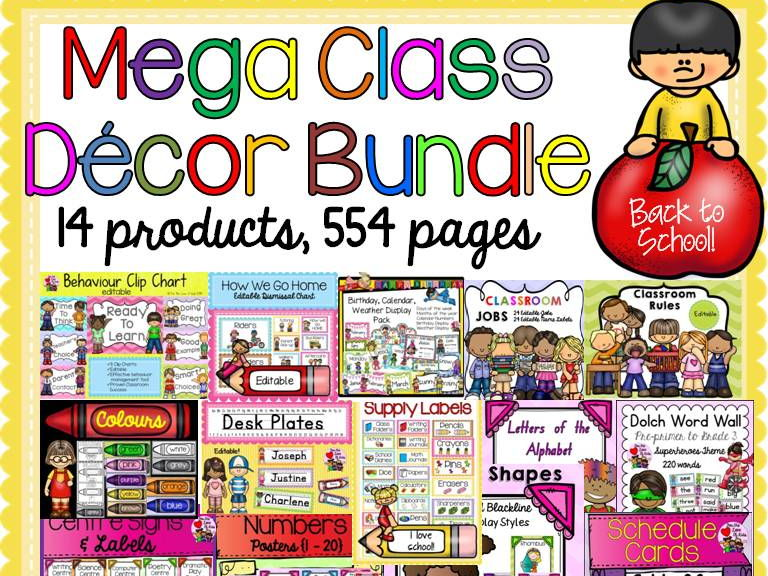 BACK TO SCHOOL CLASS DECOR {MEGA BUNDLE}