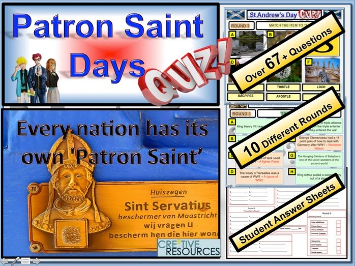 Patron Saints Quiz (St David, St George, St Andrew and St Patrick)