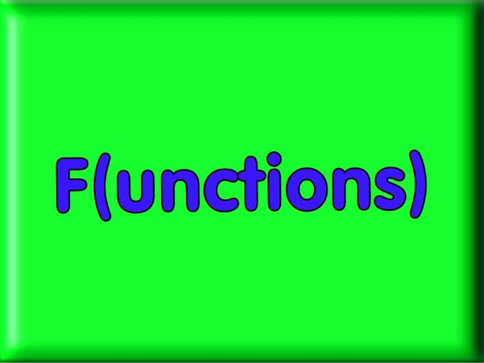 Functions for higher level GCSE