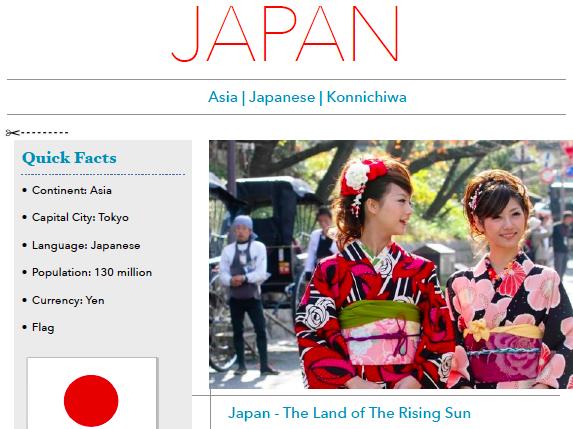 Discover Japan - Printable Worksheet