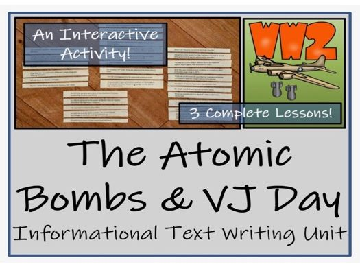 UKS2 History - The Atomic Bombs & VJ Day Reading Comprehension Activity
