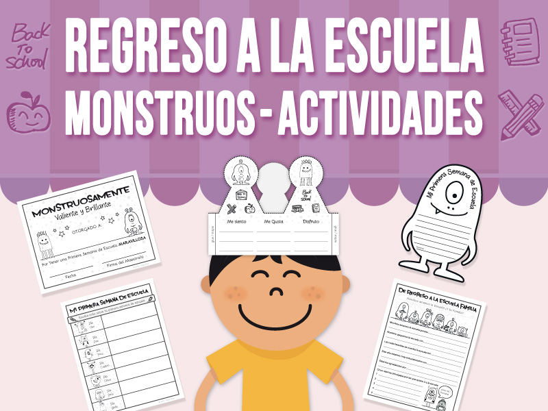 De Regreso a la Escuela - Los Monstruos Aman la Escuela - Actividades - SPANISH VERSION