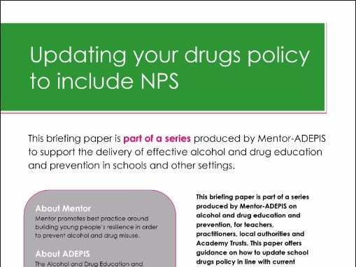 Updating your drugs policy to include NPS