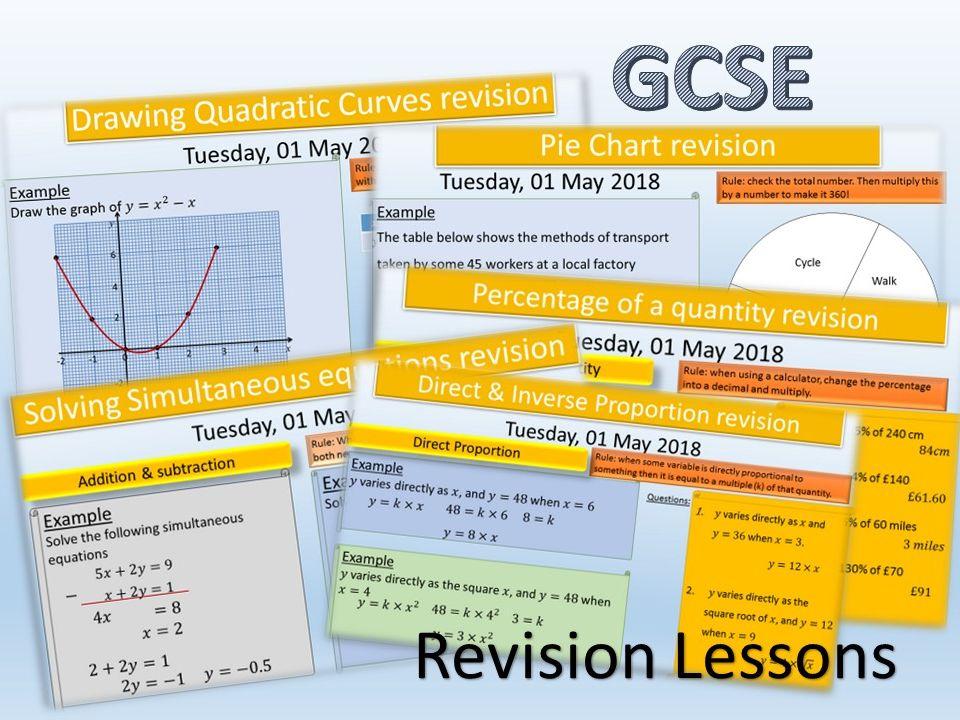 GCSE revision lessons 2