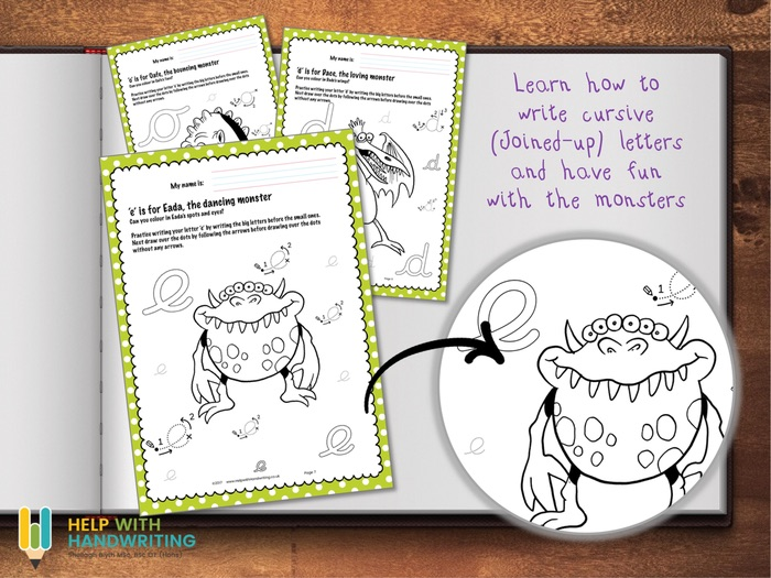 Cursive Handwriting Monsters