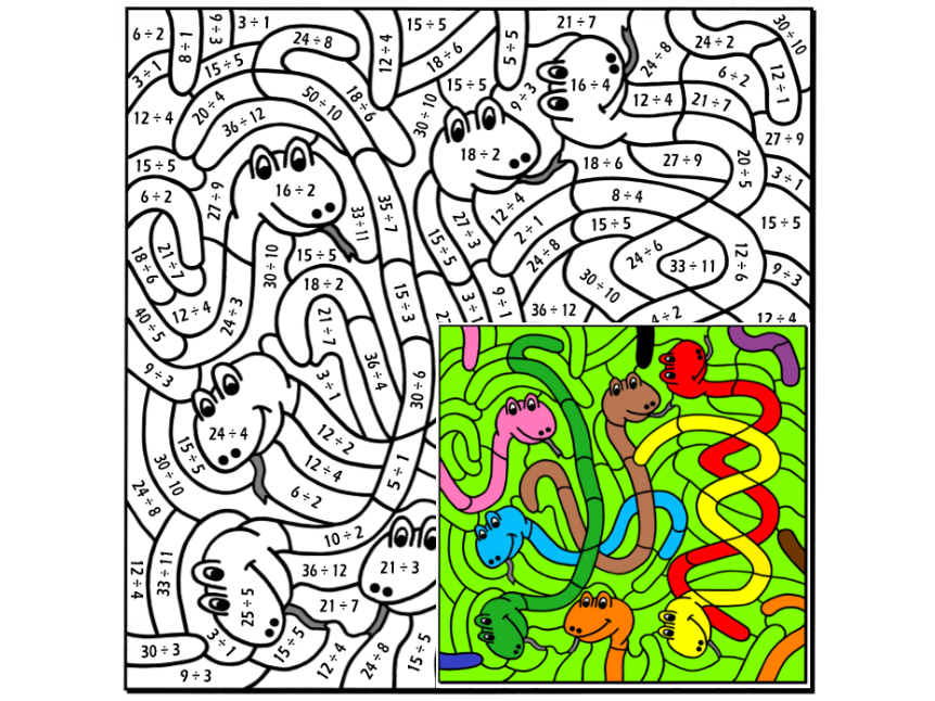 Division Colouring Puzzle by Arithmetints