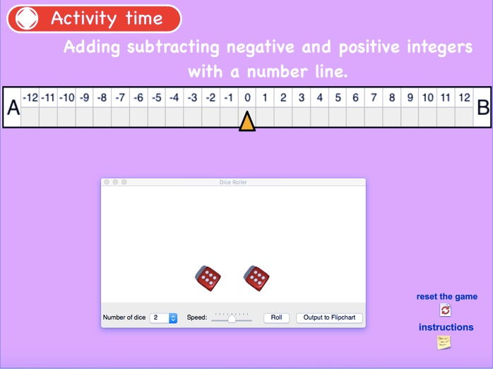working with negative numbers on number line