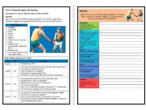 BTEC Sport (Level 2)- Unit 1 – Training Methods 3 Structure Strip (Long Answer Question)