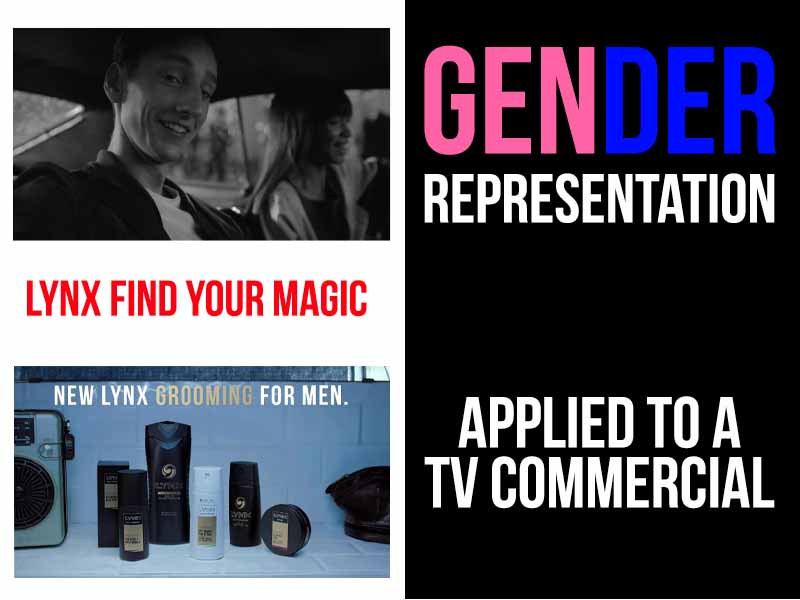 Gender representation - Applied to a TV commercial