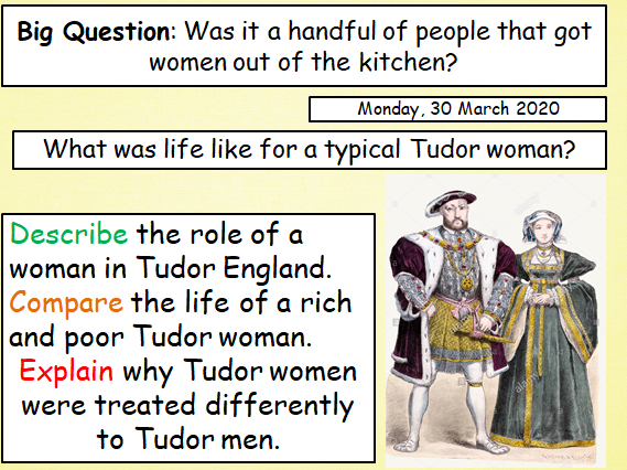 Tudor Women Lesson