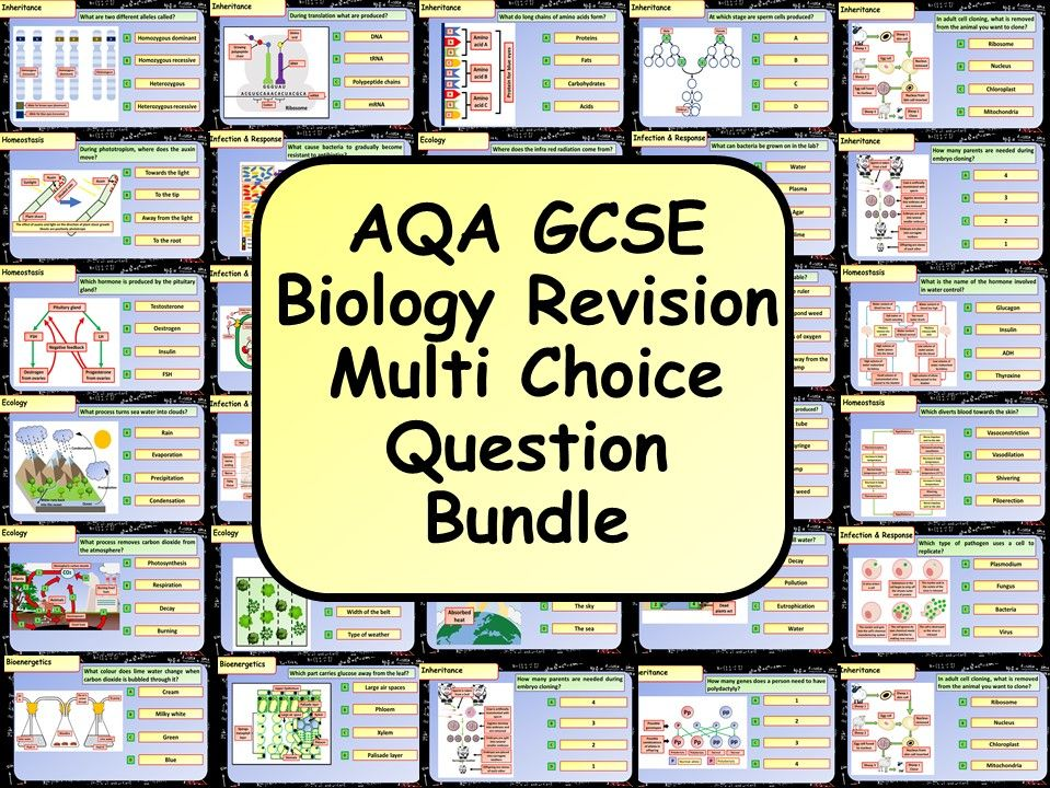 KS4 AQA GCSE Biology (Science) Multiple Choice Question Bundle