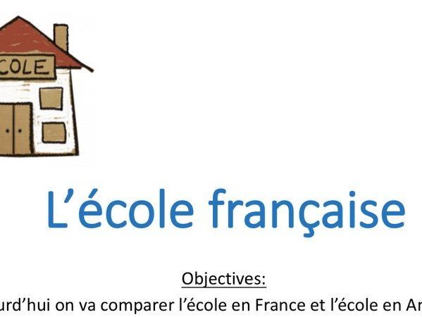 L'école française - Y7 - Cultural lesson