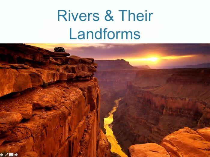 RIVERS Powerpoint (3 of 6): River Landforms (upper & middle course) (Cambridge IGCSE)