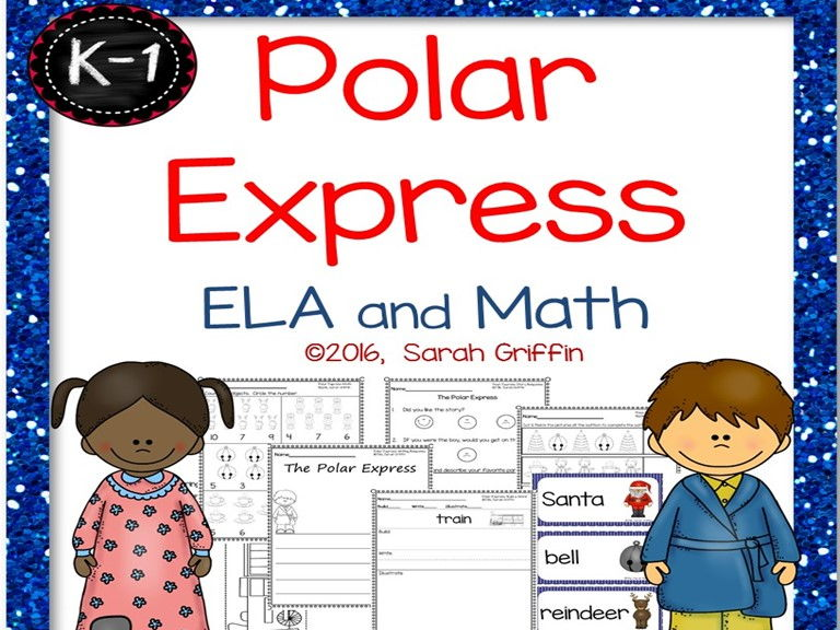 Polar Express ELA and Math Printables