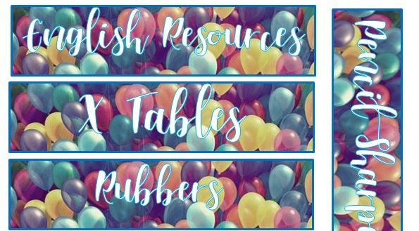 Up inspired tray labels (balloons)