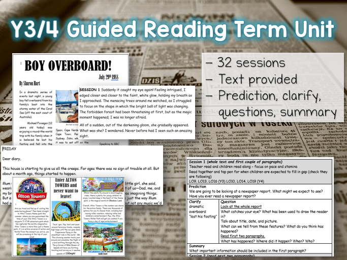 Y3/4 Guided Reading - Term Unit - 32 sessions