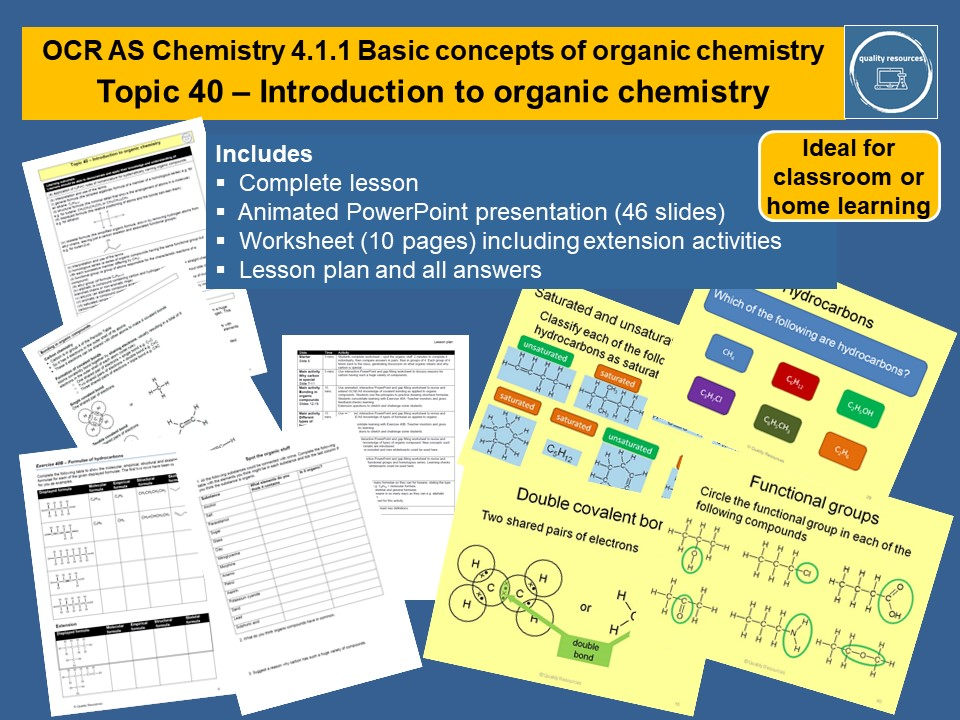 Introduction to organic chemistry OCR AS Chemistry