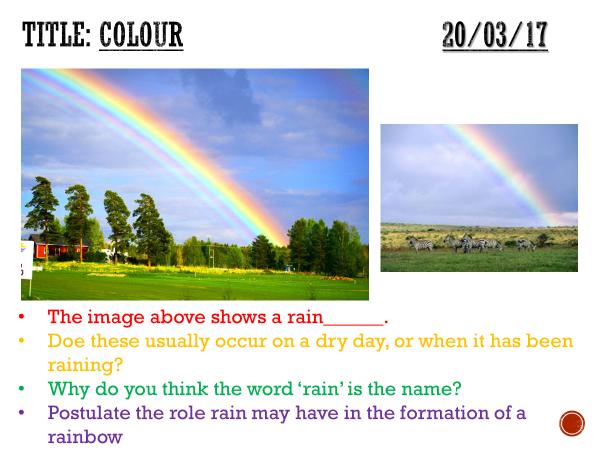 Colour - complete lesson (KS3)