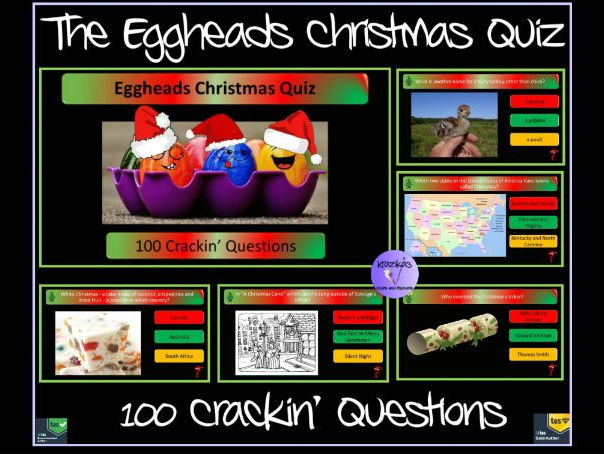 The Eggheads Christmas Quiz 2017 - 100 Crackin' Questions Interactive PowerPoint Quiz