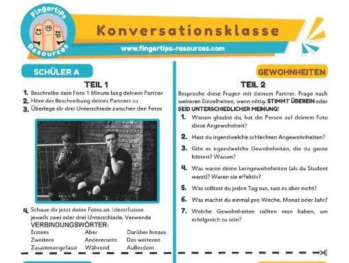 Gewohnheiten - German Speaking Activity