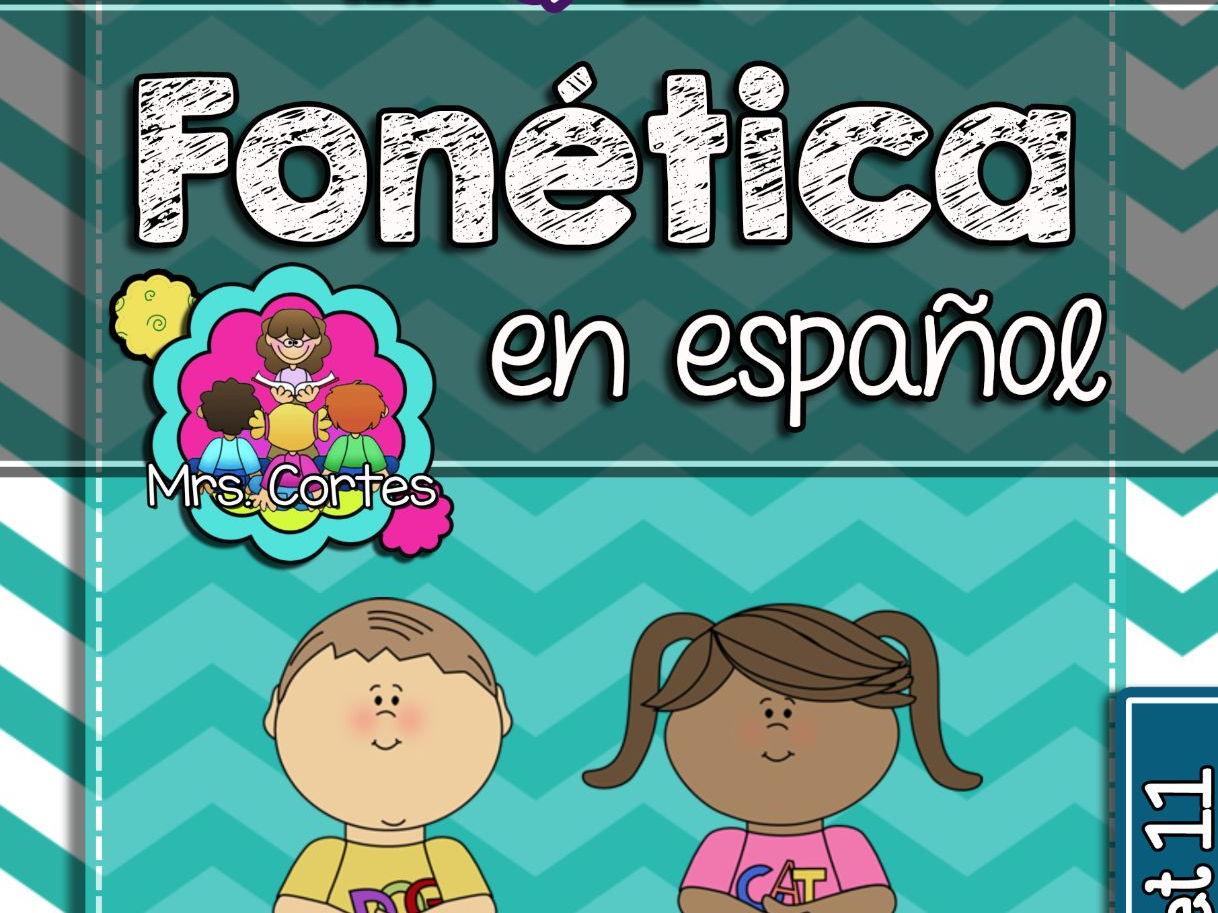 Spanish Phonics Book Bundle # 4: Sets 10, 11, and 12