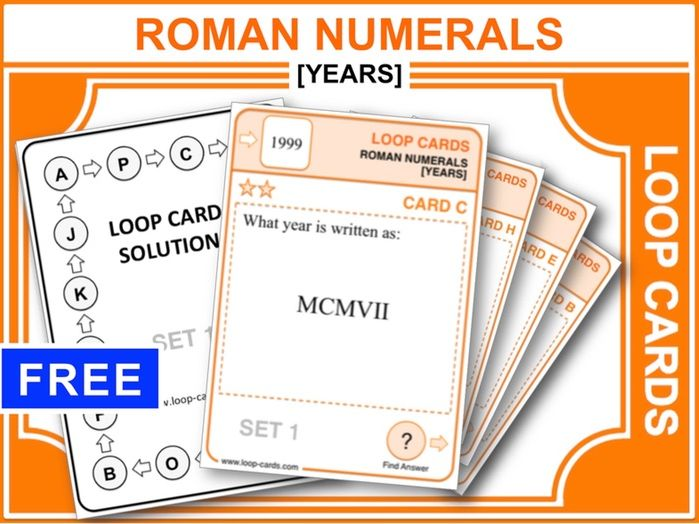 Roman Numerals: Years (Loop Cards)