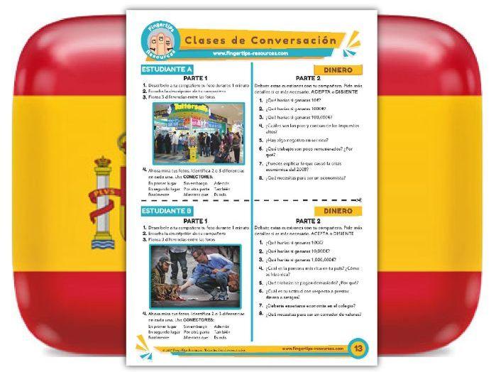 Dinero - Spanish Speaking Activity