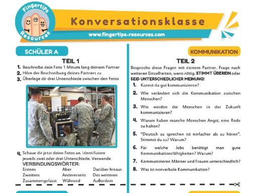 Kommunikation - German Speaking Activity