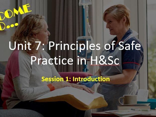 Unit 7 Principles of Safe Practice - LEARNING AIM A RESOURCES BUNDLE