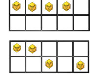 Subitising numbers 1-5 in 10 frames
