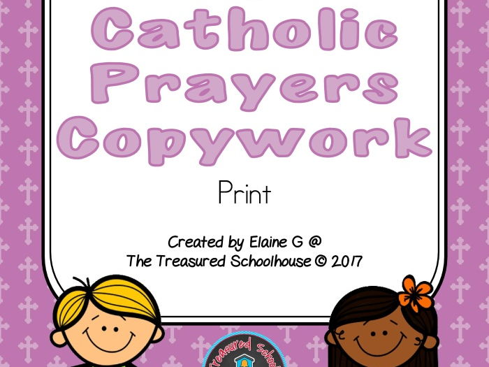 Catholic Prayers Copywork - Print
