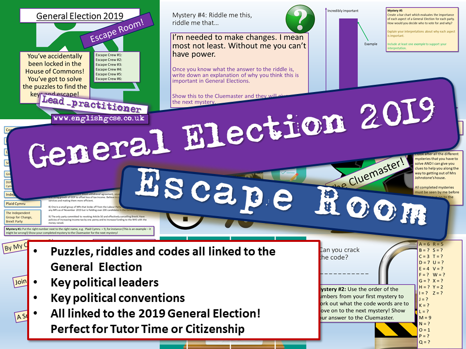 General Election 2019 Escape Room
