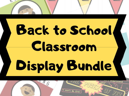 Back to School Classroom Display Bundle