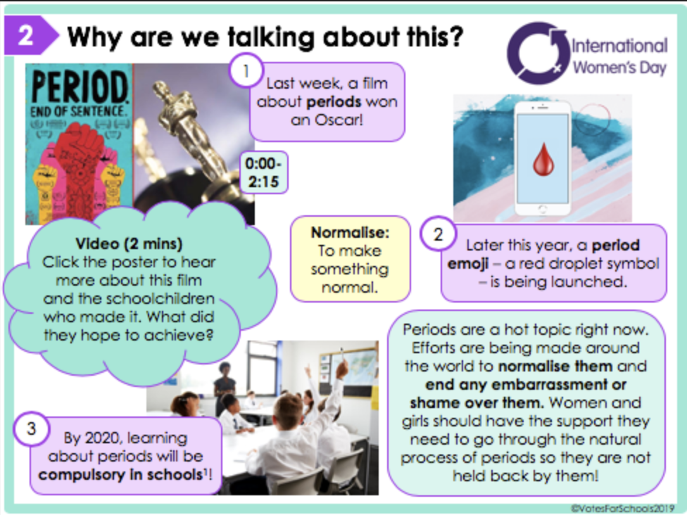 Will the new period emoji make it easier to talk about periods? KS3/KS4 Lesson