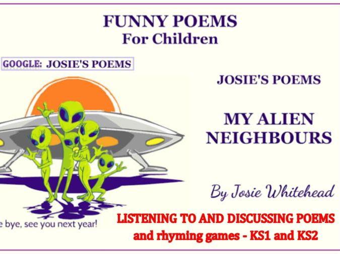 My Alien Neighbours -A story- poem by Josie Whitehead
