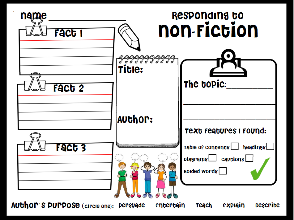 Responding to Non Fiction for Primary Grade