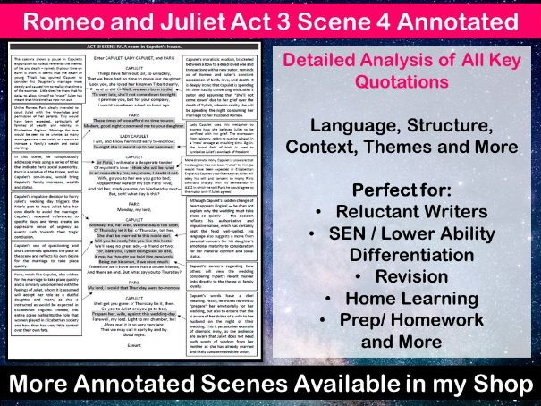 Romeo and Juliet Act 3 Scene 4 Annotated