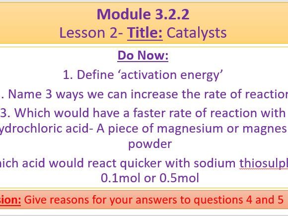 A Level Chemistry OCR A- Module 3.2.2