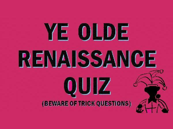 The European Renaissance: Quiz