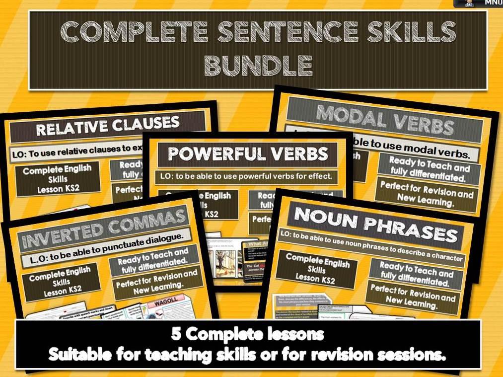 5 Complete Grammar Skills Lessons KS2