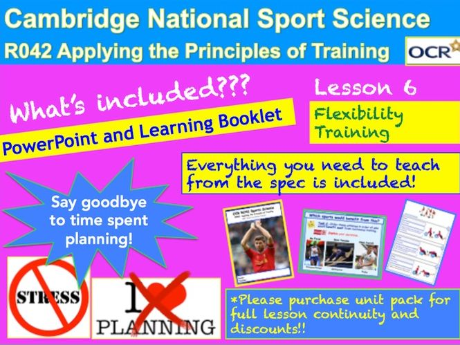 Cambridge National Sports Science R042: Flexibility Training