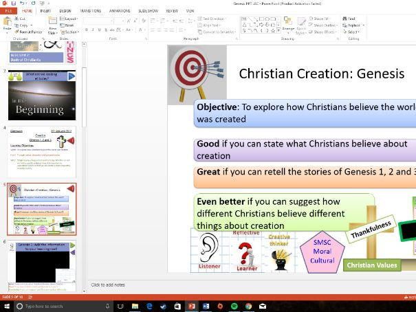 WJEC Eduqas: Christian Creation / Genesis: Whole Lesson
