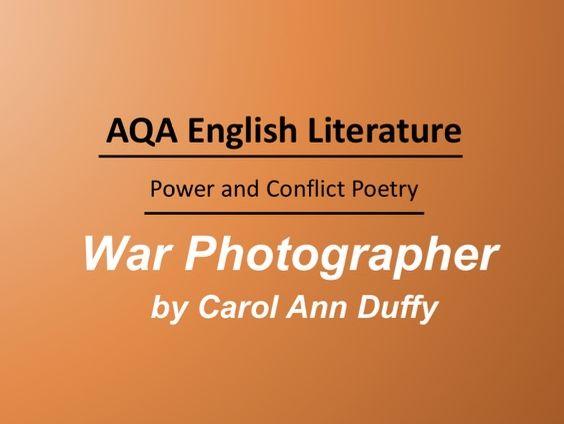 War Photographer by Carol Ann Duffy Lesson