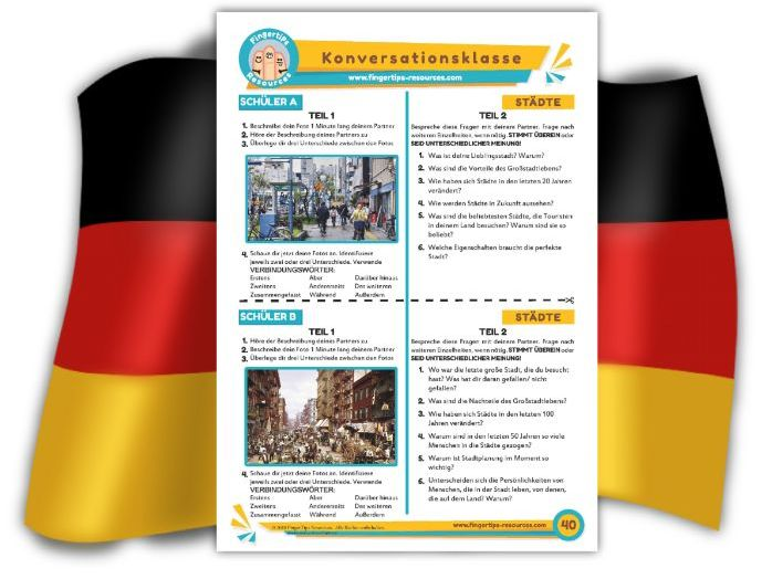 Städte - German Speaking Activity