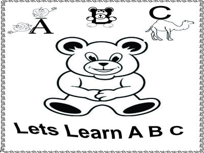 Tracing the letters A B C D